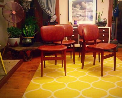 4 x Retro Elite Dining Chairs Petersham Marrickville Area Preview
