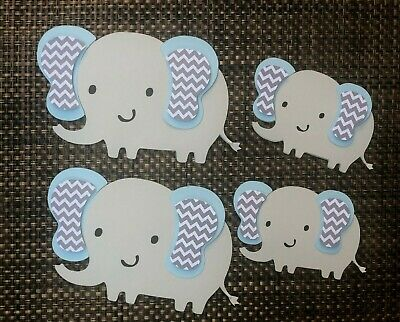 Elephant centerpiece/ elephant theme/ Baby shower/ Light Blue Elephant - Themed Centerpieces
