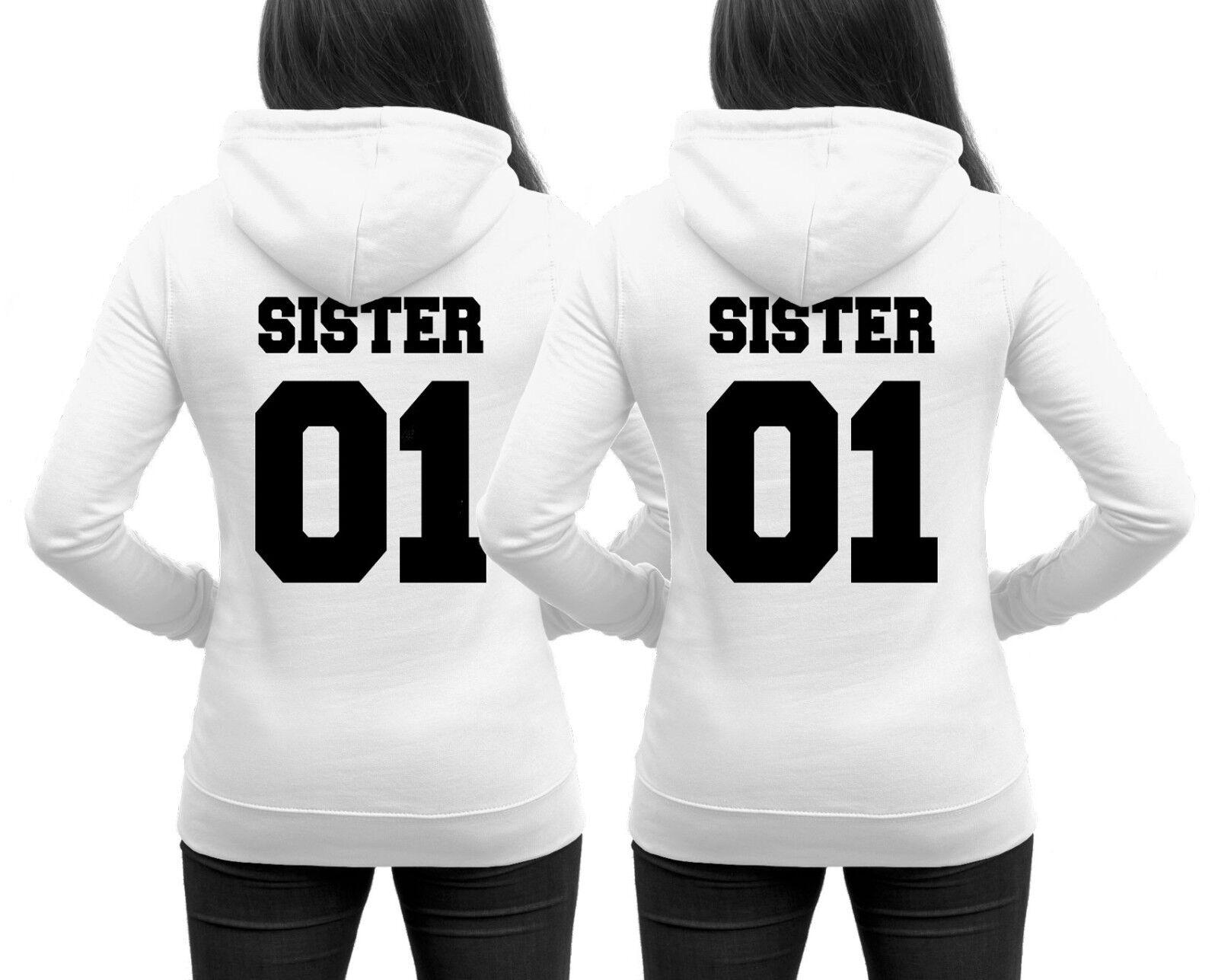SISTER Hoodies im SET Pärchenpullis Doppelpack 2er Set Schwestern Best Friends