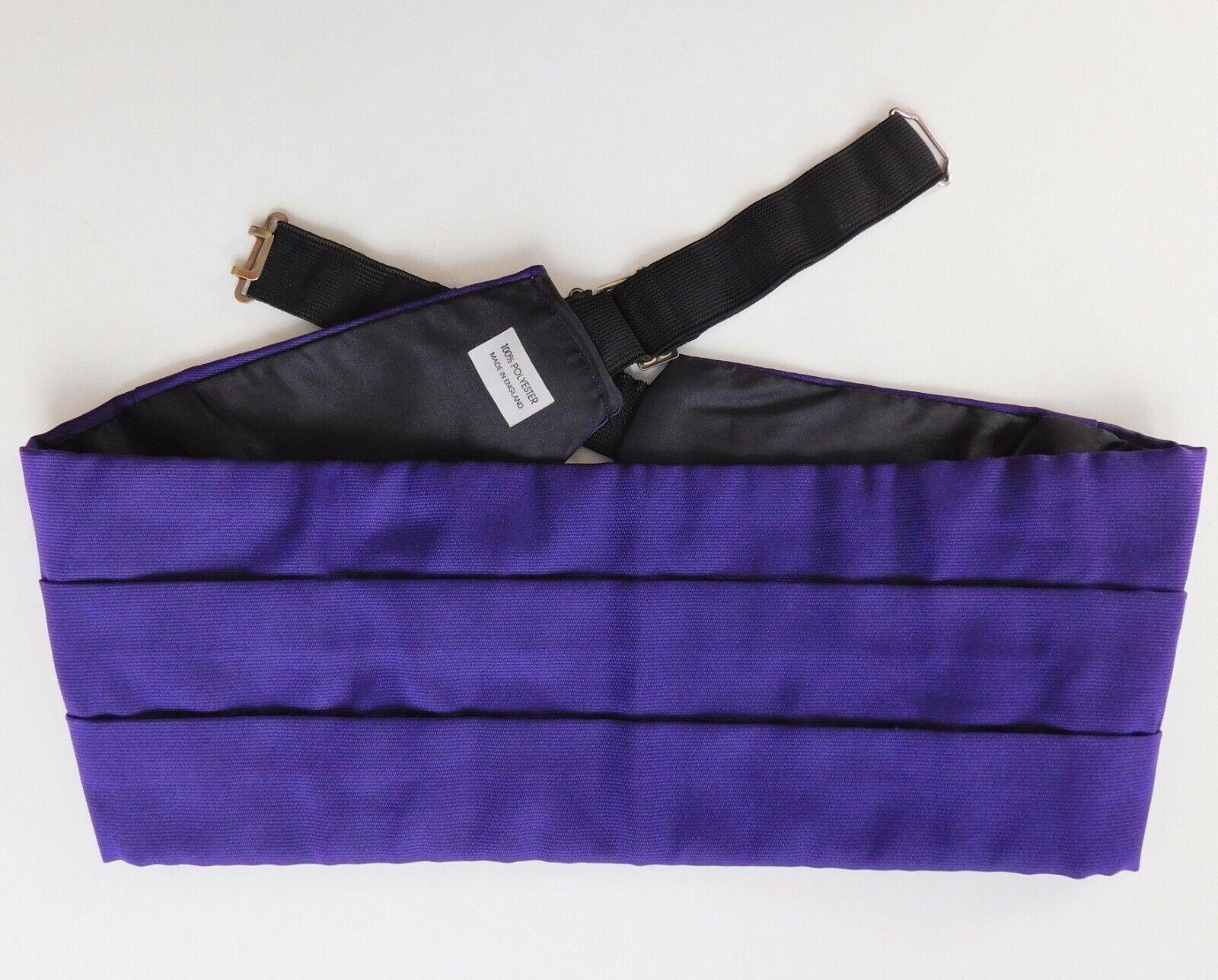 Mans purple cummerbund tuxedo formal evening dress wear made in England