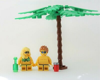 Lego City Beach Boy Girlfriend bikini vacation People Minifigure Male Female