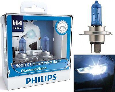 Philips Diamond Vision White 5000K 9003 HB2 H4 60/55W Head Light Bulb High Low