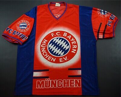 9d10041e5 Rare Vintage NUTMEG FC Bayern Munich All Over Print 2 Sided Jersey 90s  German XL
