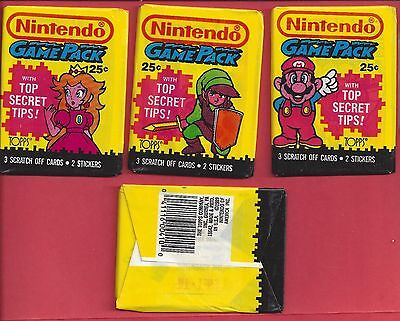 1989 Topps Nintendo Game Pack single Wax Pack