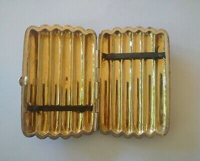Silver and Gold Antique Cigarette Case