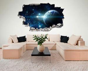 Weltraum Weltall Galaxy All Planeten Wandtattoo XXL Wandsticker Aufkleber C225
