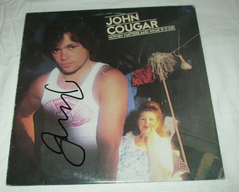 JOHN MELLENCAMP SIGNED NOTHIN' MATTERS AND WHAT IF IT DID VINYL RECORD