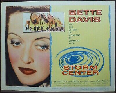 Saul Bass Art Bette Davis 1950s Original Lobby Title Card Storm Center - $19.95