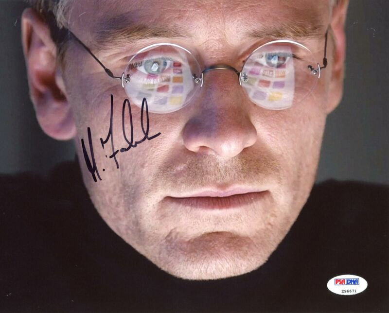 "Michael Fassbender ""Steve Jobs"" AUTOGRAPH Signed 8x10 Photo PSA"
