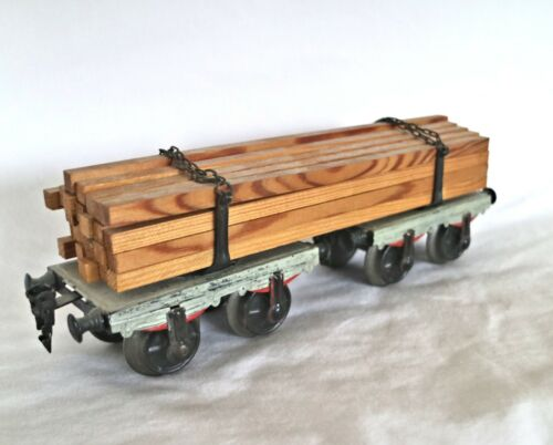 AC1063: Vintage Märklin Gauge 1 Pre War Timber Wagon with Load 1814/1 G