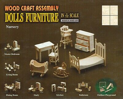 Nursery - Furniture for Dolls 1:12 in Wood Craft Assembly House