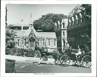 1978 Horse Drawn Carriage In Montreal Canada Original News Service Photo