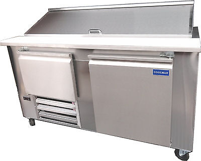 Coolman Commercial 1-12 Door Refrigerated Sandwich Prep Unit 60