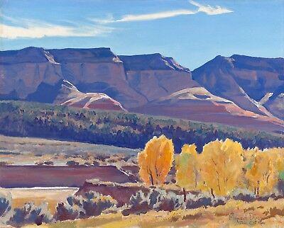 "Maynard Dixon, Peaceful Morning, vintage/antique  art, Desert Landscape, 20""x16"""