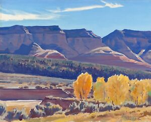 Maynard Dixon, Peaceful Morning, vintage/antique  art, Desert Landscape, 20