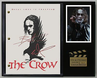 THE CROW Limited Edition Reproduction Signed Movie Script Display