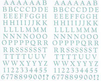 Mrs Grossman's 123 ABC Classic Alphabet Blue POOL Scrapbook Stickers 2 sheets ()