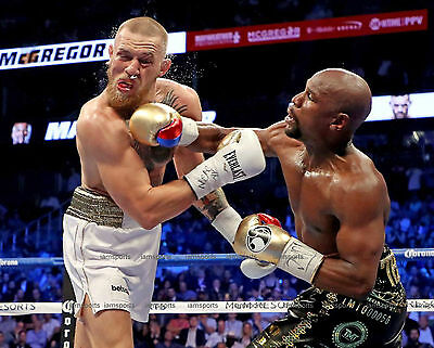 FLOYD MAYWEATHER JR vs CONOR McGREGOR BOXING FIGHT 8X10 (Boxing Floyd Mayweather Jr Vs Conor Mcgregor)