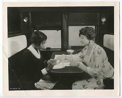 Vintage Photograph, Train Scene, Upper Class Manicure. c. 1920's