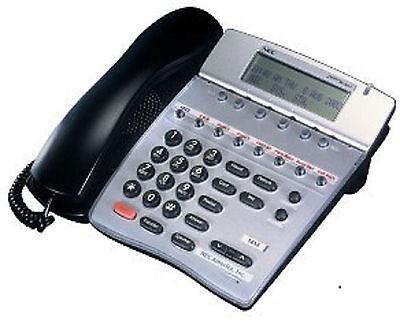 Five 5 Refurbished Black Nec Dtr 8d-2 Phones 780040