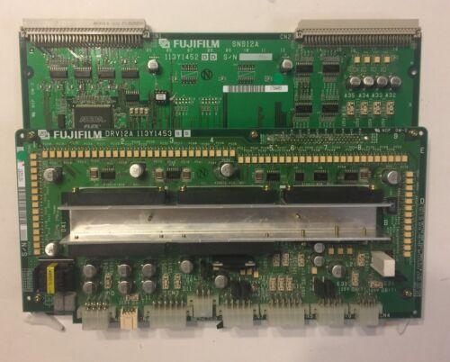 FUJIFILM FCR XG-1 PCB Board SNS12A & DRV12A, Part #: 113Y1452 & 113Y1453