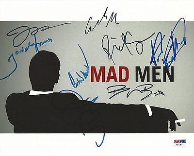 Vincent Kartheiser Elisabeth Moss  6 Cast Signed Mad Men 8X10 Photo Psa Dna Loa