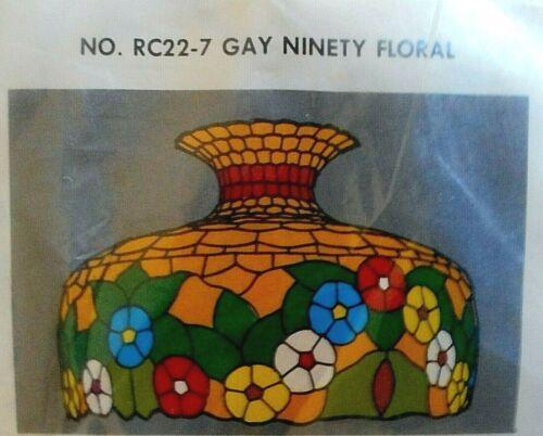WORDEN SYSTEM TIFFANY STYLE LAMP SEMI-KIT #RC22-7: GAY NINETY FLORAL, RARE!