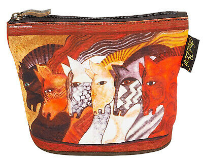 Laurel Burch Horses Moroccan Mares Organizer Bag Pouch Makeup Jewelry Meds Coin ()