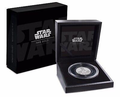2017 Star Wars Han Solo™ Ultra High Relief 2 oz Silver Coin