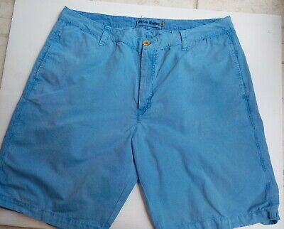Tailor Vintage  Blue Flat Front Chino Shorts SZ 38