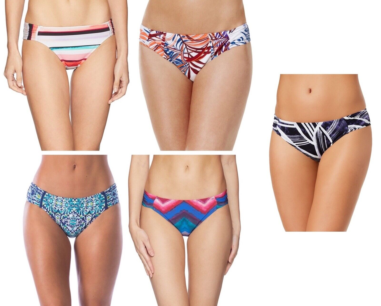La Blanca Womens Side Shirred Hipster Bikini Swim Bottoms Select sizecolor