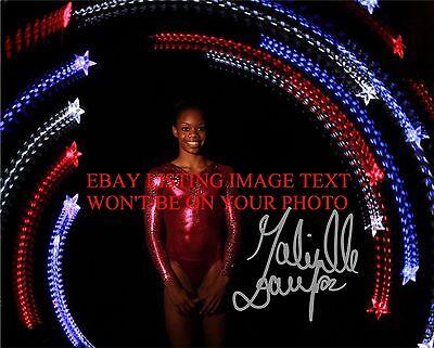 Gabby Douglas Autographed 8X10 Rp Photo Olympics Gold Medal Gymnastics Gabrielle