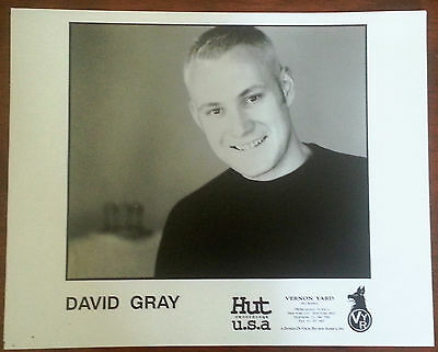 Rare Early David Gray 8x10 B&W Press Photo Hut Recordings Vernon Yard Recordings