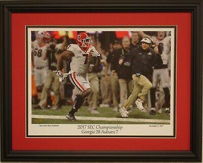 Georgia Bulldogs Football Vs Auburn 2017 Sec Champions Le Framed Print