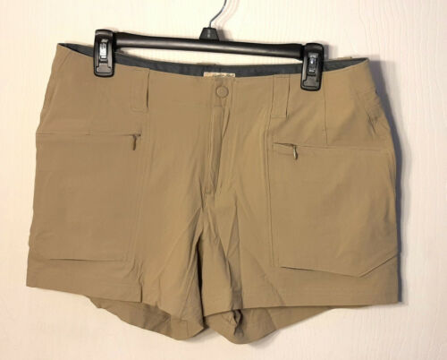 Womens Gander Mtn Mountain Shorts Khaki Color Size 10R Hiking Outdoor Activity