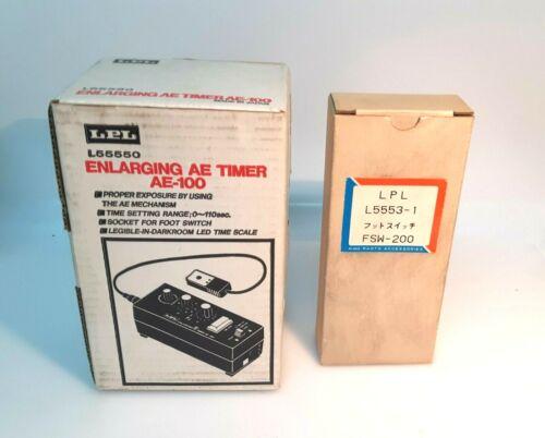 LPL AE-100 +Measure sensor exposure+Foot Switch FSW-200 Enlarger Timer./New-K005