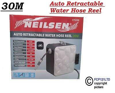 Auto Reel 30m Hose Wall-Mounted Automatic Rewind Garden Watering System ct5258