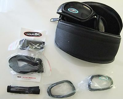 Wiley X SG-1 Z87 Goggles, Smoke Grey/Clear, V Cut/Matte Black new