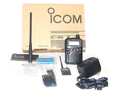 NEW ICOM IC-R6-20 IPX2 MIL-STD-810 EXP Wide Band Handheld Scanner Receiver Radio