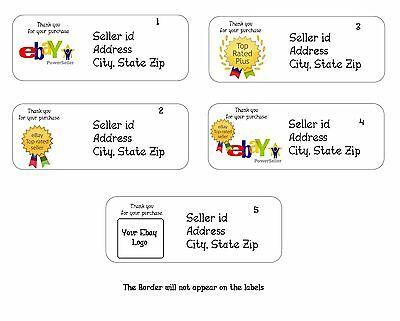 30 Personalized Return Address Labels ebay thank you Buy 3 get 1 free (eb1)