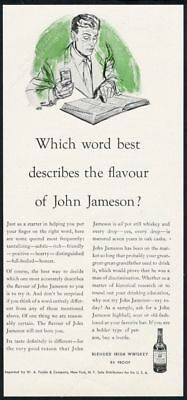 1954 John Jameson's Irish Whiskey Which Word Best Describes? vintage print