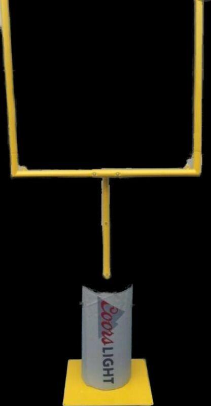 XL Goal Posts Yellow Metal Coors Light Football Decor Tailgate PhotoOp NEW Miami