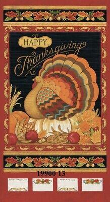 MODA Thankful Turkey 100% cotton fabric panel approx 24 x 44 19900 13 Berry - Thankful Turkey Craft