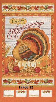 MODA Thankful Turkey 100% cotton fabric panel approx 24 x 44 19900 12 - Thankful Turkey Craft