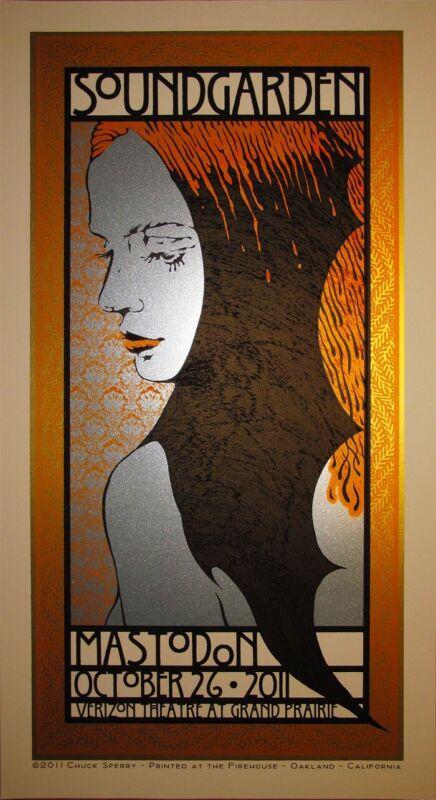 soundgarden poster chuck sperry dallas 2011