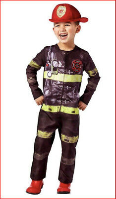 FIREFIGHTER Fireman Halloween Costume - Jumpsuit & Hat Toddler 18-24 Mos 🌟New🌟 - Fireman Halloween Costumes Toddler