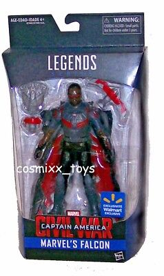 MARVEL LEGENDS CAPTAIN AMERICA CIVIL WAR SERIES MARVEL'S FALCON EXCLUSIVE HASBRO