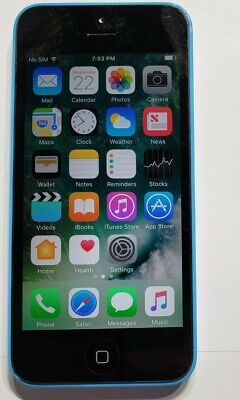 APPLE IPHONE 5c - 16GB - BLUE (AT&T) A1532 CLEAN IMEI - WORKS GREAT