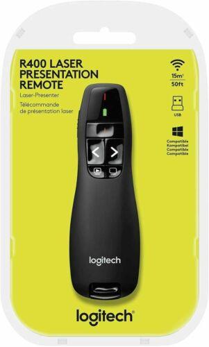 NEW Logitech R400 Laser Presentation Remote Wireless Controller Clicker Pointer
