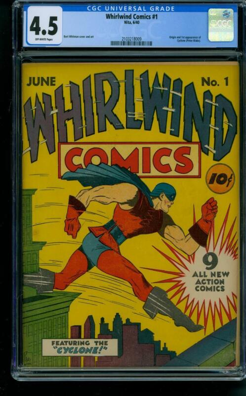 Whirlwind #1 [1940] Certified 4.5 CYCLONE
